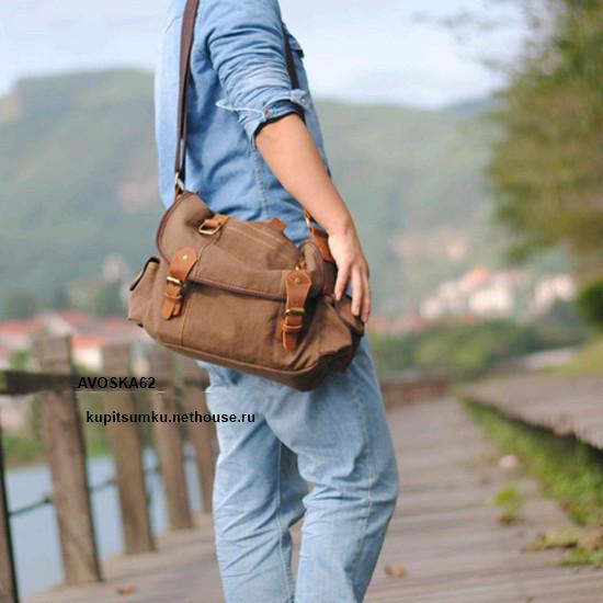 Тканевая сумка через плечо женская 93