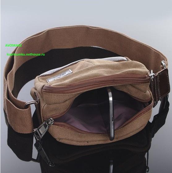 Тканевая сумка через плечо женская 42